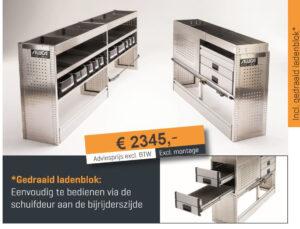 Productafbeelding: Aluca bedrijfswageninrichting voordeelpakket Large NIEUW!