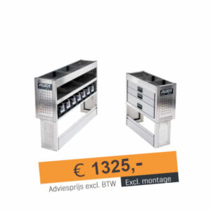 Productafbeelding: Aluca bedrijfswageninrichting voordeelpakket Compact B NIEUW!