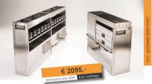Productafbeelding: Aluca bedrijfswageninrichting voordeelpakket Medium NIEUW!