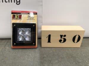 Productafbeelding: LED Achteruitrijlamp inbouw 12 Watt 660lm 12/24v ECE-R23 NIEUW! (nr 150)