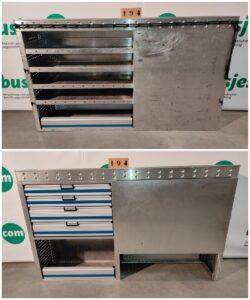 Productafbeelding: Aluca aluminium gebruikte bedrijfswageninrichting (nr 194)