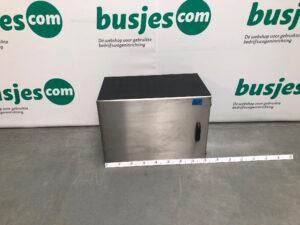 Productafbeelding: RVS gebruikte kist voor compressor of aggregaat geïsoleerd (nr 201)