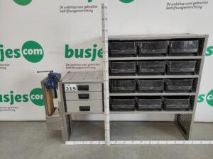 Productafbeelding: Aluca aluminium gebruikte bedrijfswageninrichting (nr 215)