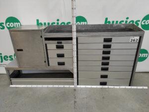 Productafbeelding: Aluca aluminium gebruikte bedrijfswageninrichting (nr 262)